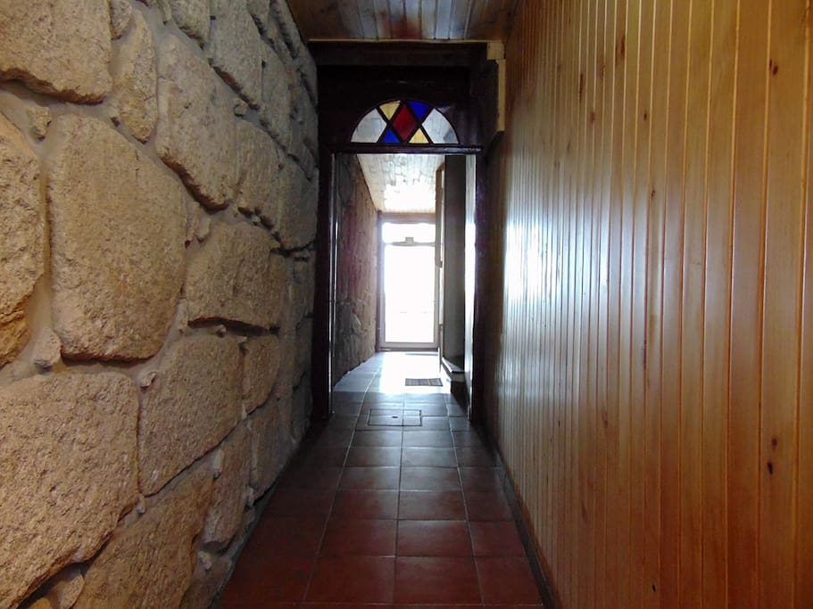 Entrance corridor. Like most traditional Porto houses this one is long and narrow.