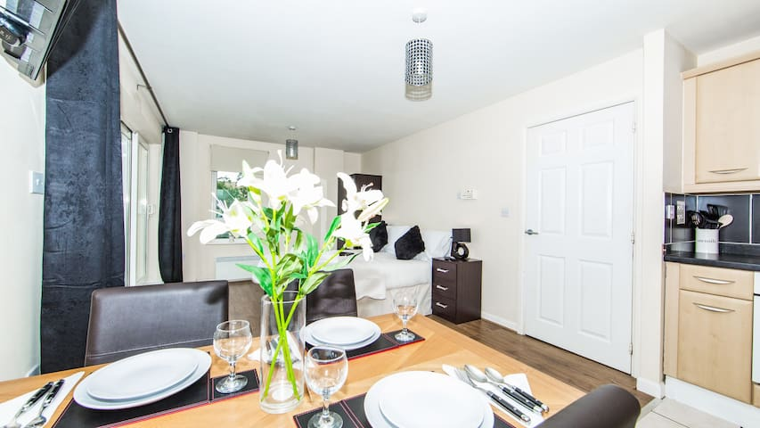 Beautiful Suite with Kitchenette and Balcony - Wembley