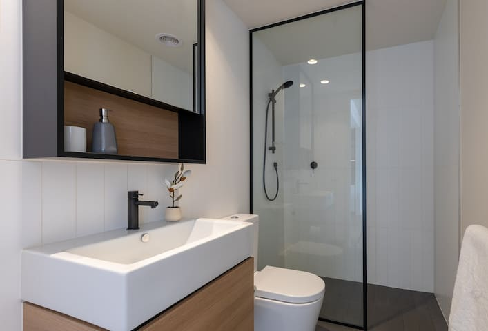 Clean and modern bathroom
