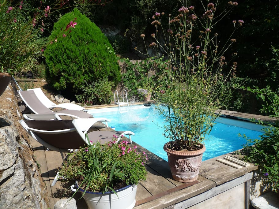 Confortable Swimming pool (6mX3m) connected to the upper side of the beautiful terrace