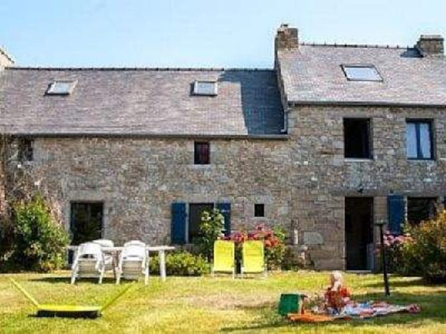 Maison ancienne bord de mer 12 lits houses for rent in brignogan plage bre - Maison bord de plage ...