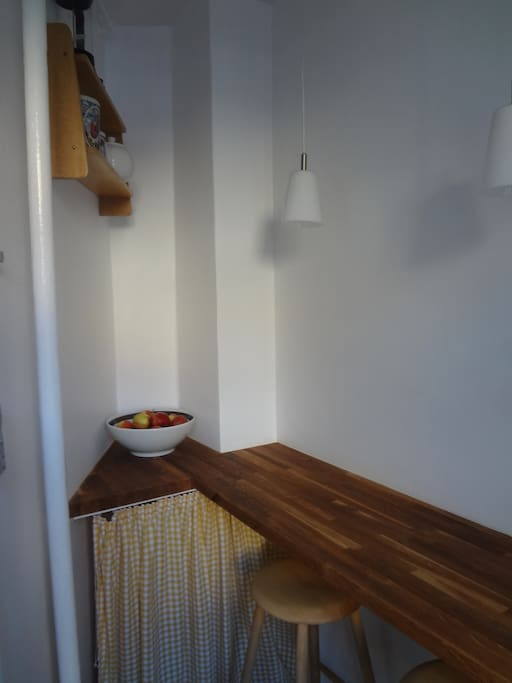 sitting part of the kitchen