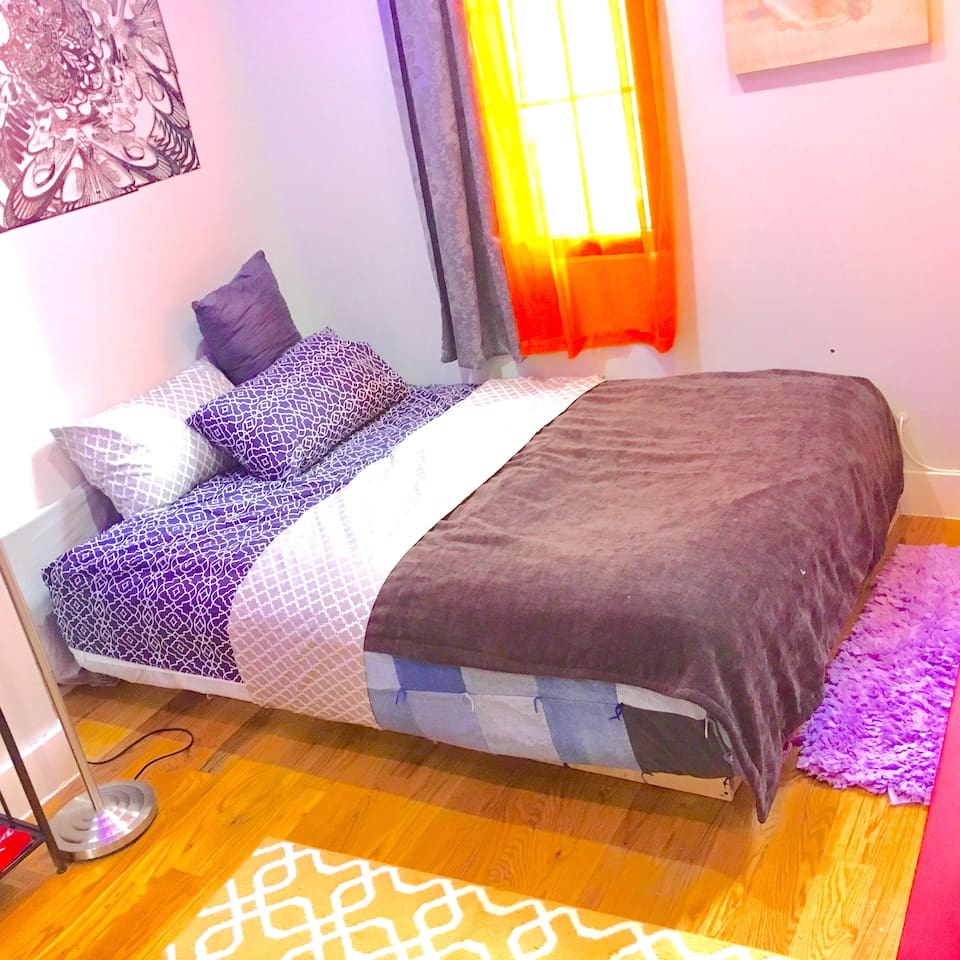 This is the extremely comfy bed in bedroom #2!