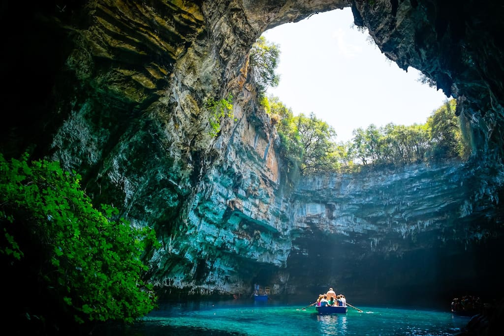 Melissani cave, 15km away from Poros