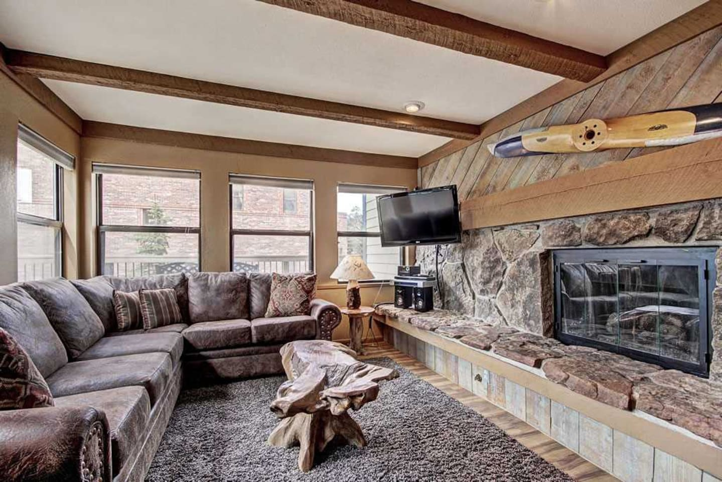 This fantastic two-bedroom unit has everything you need for the perfect mountain escape.