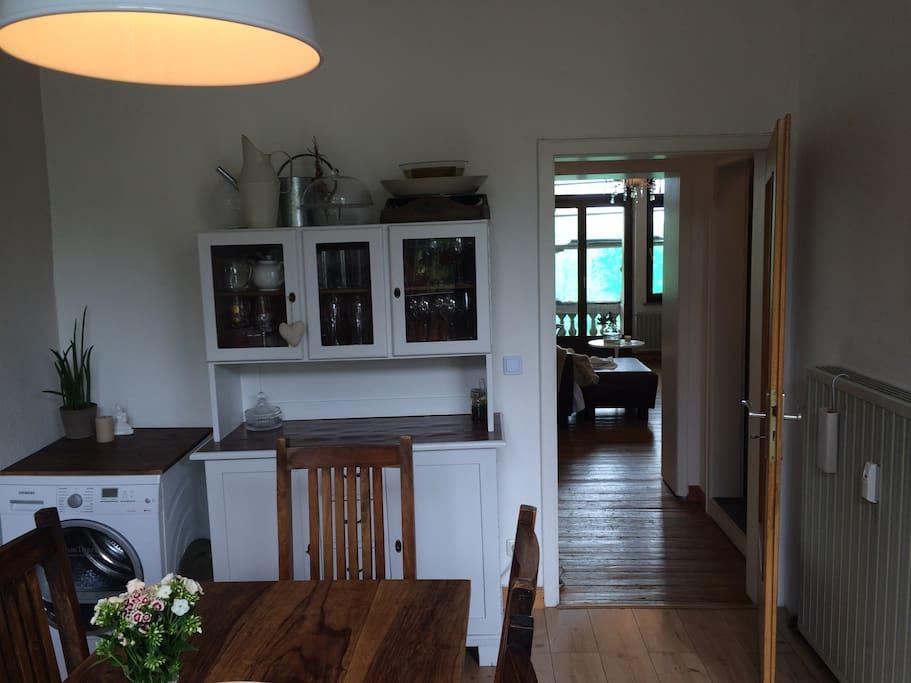 Kitchen with dryer