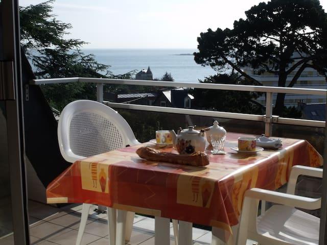 Appart 4 pers vue dégagée sur mer et baie - Saint-Quay-Portrieux - Pis