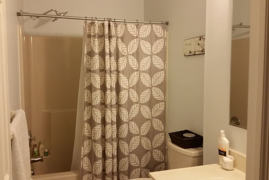 Guest bathroom with rainfall shower