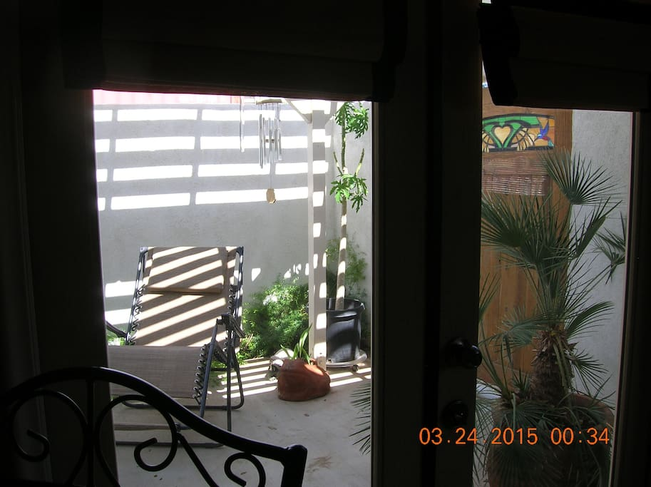 View of private patio