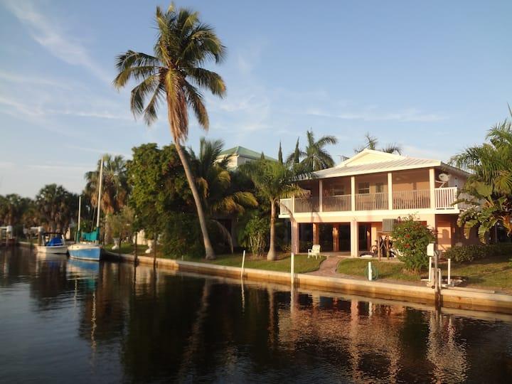 The Bokeelia Boathouse, waterfront,