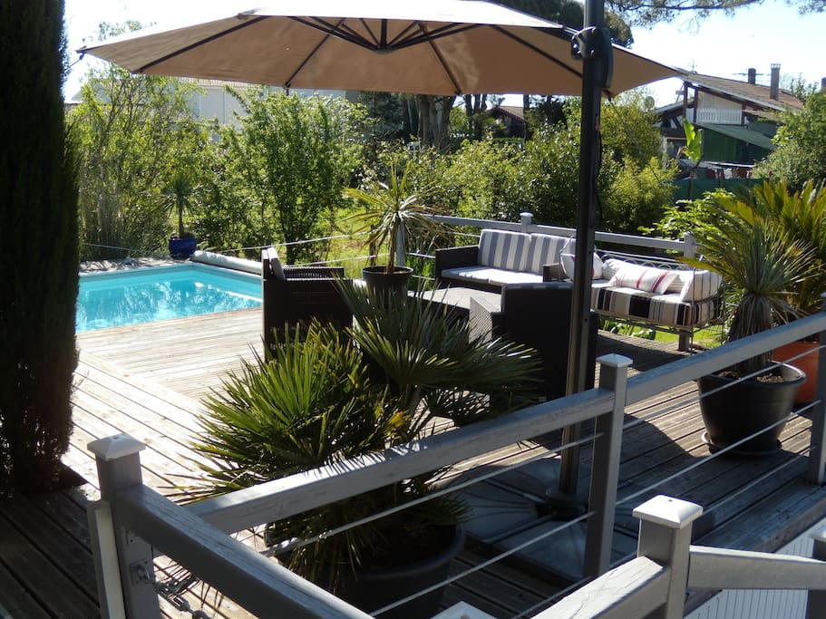 Au bord du bassin d 39 arcachon houses for rent in gujan for Piscine spa gujan mestras