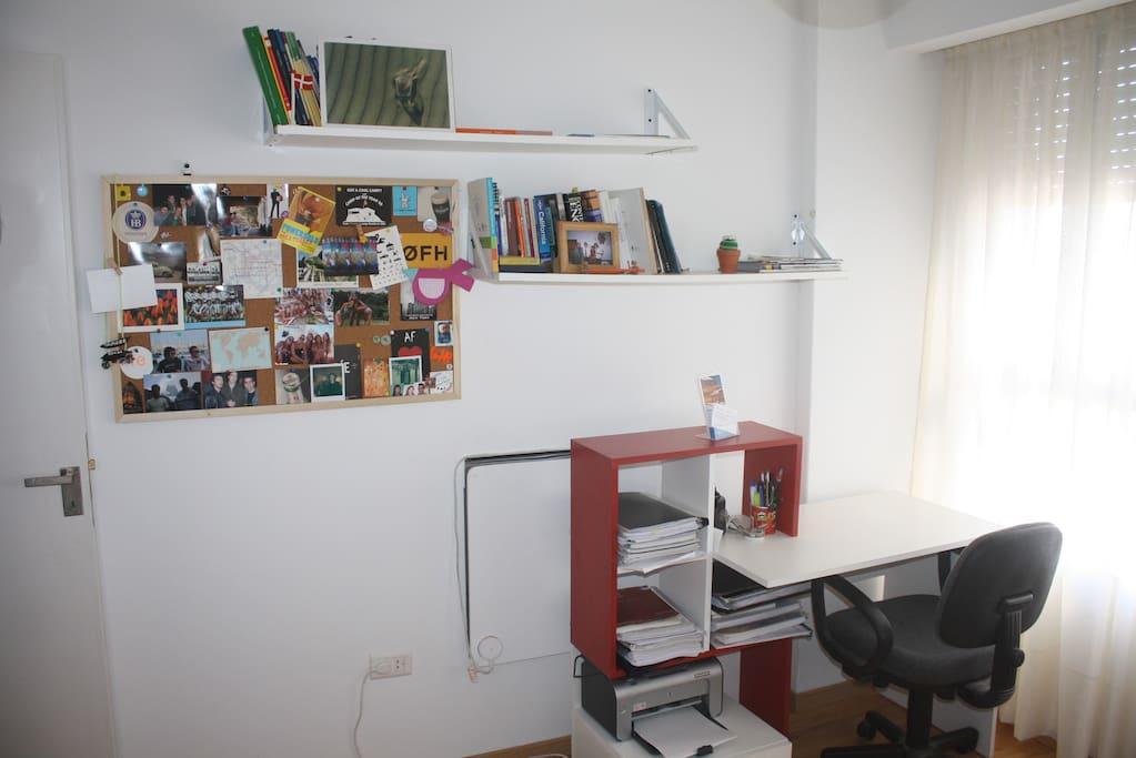 the room, desk