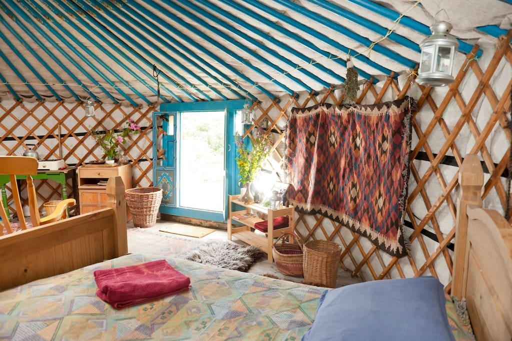 The Blue Yurt, Old Chapel Farm