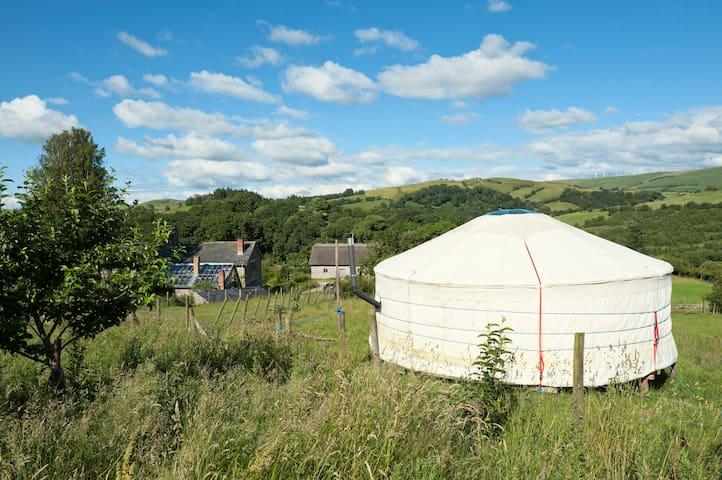The Blue Yurt, Old Chapel Farm - Tylwch - Jurta
