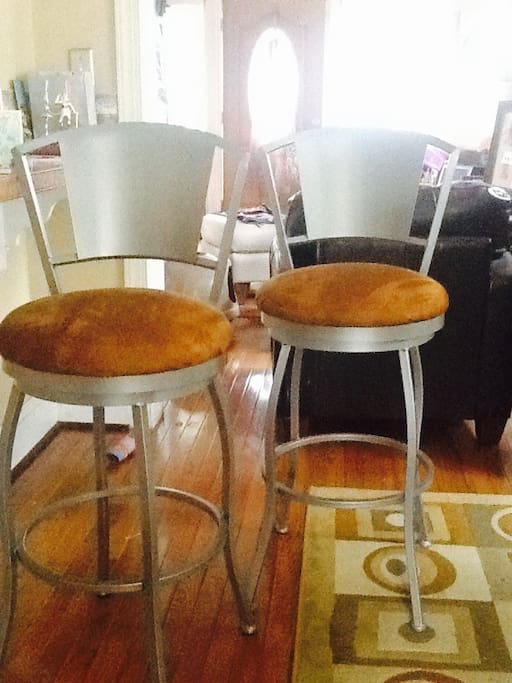 Bar Stools at Counter