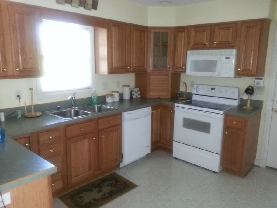 Kitchen amenities area