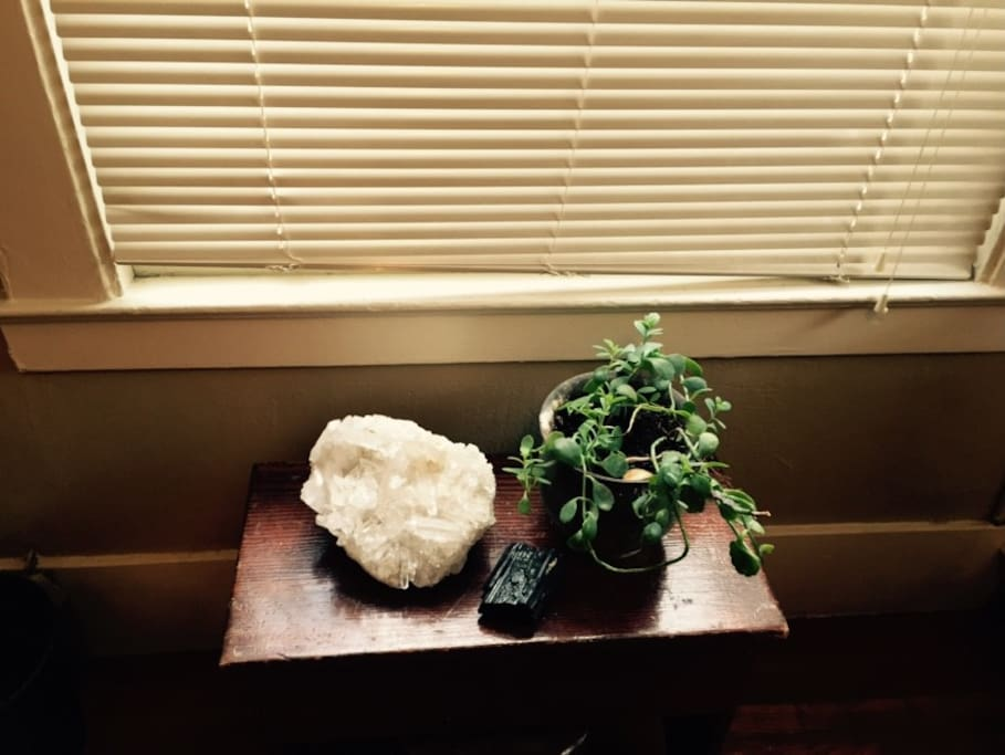 Big crystals & plants keeping the energy clear