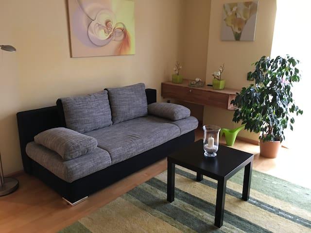 Helle Wohnung, 2 Zimmer, 52 qm, ruhig, zentral