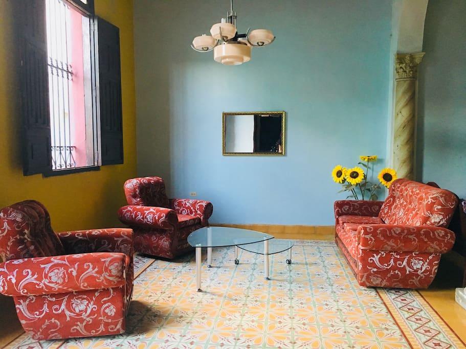Living room 1st floor Salon 1er étage
