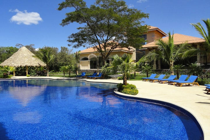 Spacious resort condo with shared pool and tennis, easy beach access, near town