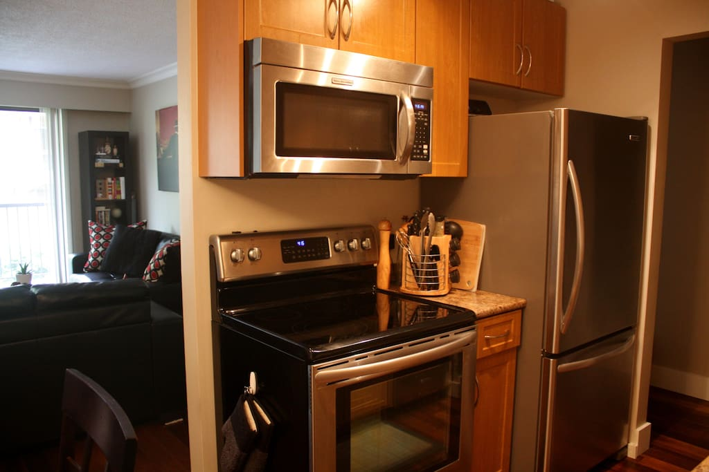 Enjoy cooking with brand new stainless steel appliances