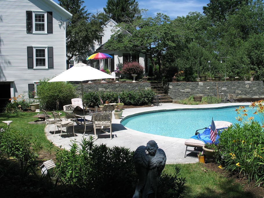 Pool View from Back Yard