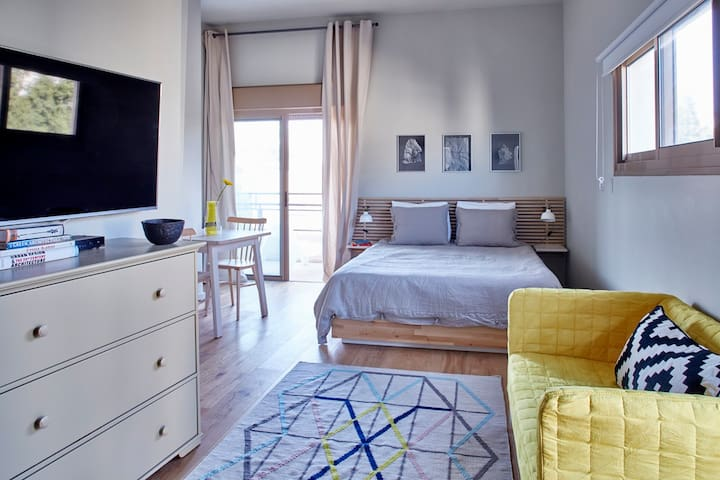 Bright and spacious Studio with cozy terrace