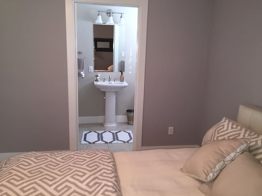 Another view of the room with attached bath