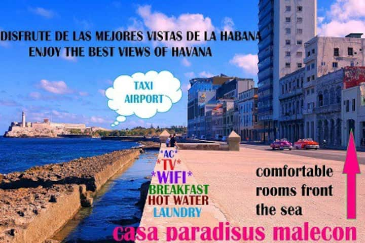 Casa Paradisus Malecon 3 frente al mar 🇨🇺 wifi😉