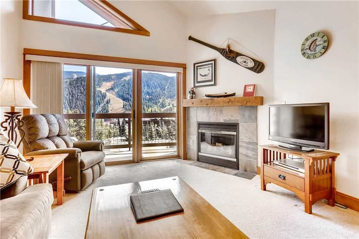 Cute condo with ski area views, indoor pool & hot tub, great for summer