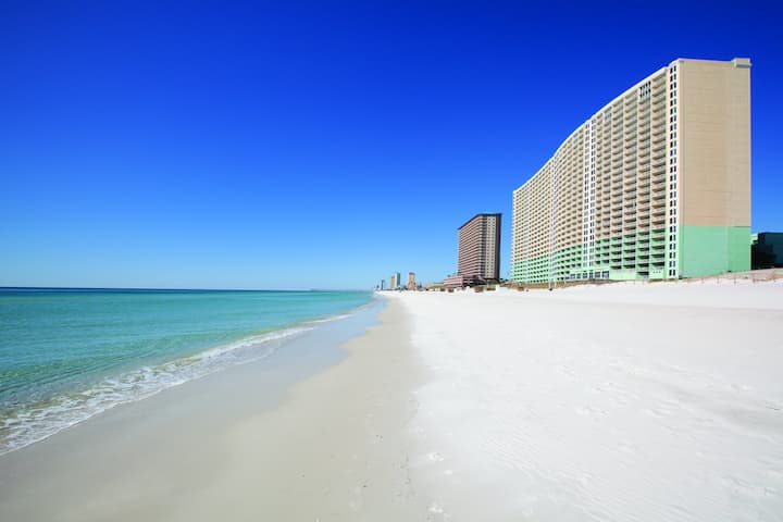 Ocean Front One Bedroom Deluxe Condo, Panama City Beach (A72)