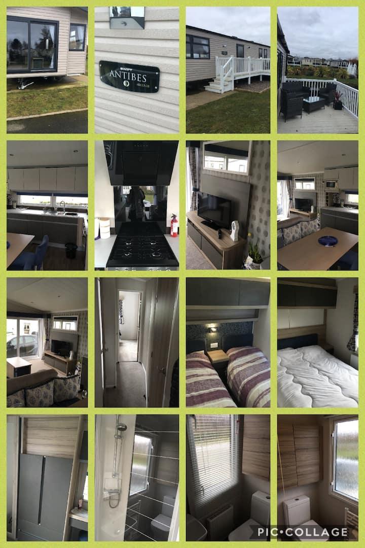 Swift Antibes 3 bedroom Caravan with decking.