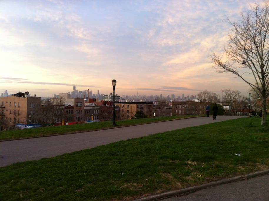 Sunset Park, a great place to walk, with great views