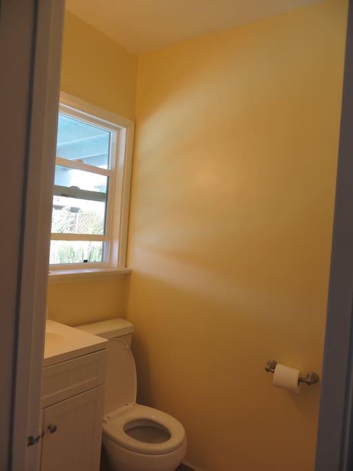 Bathroom in guest bedroom/office.