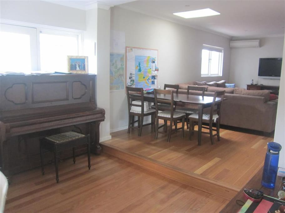Living space and piano