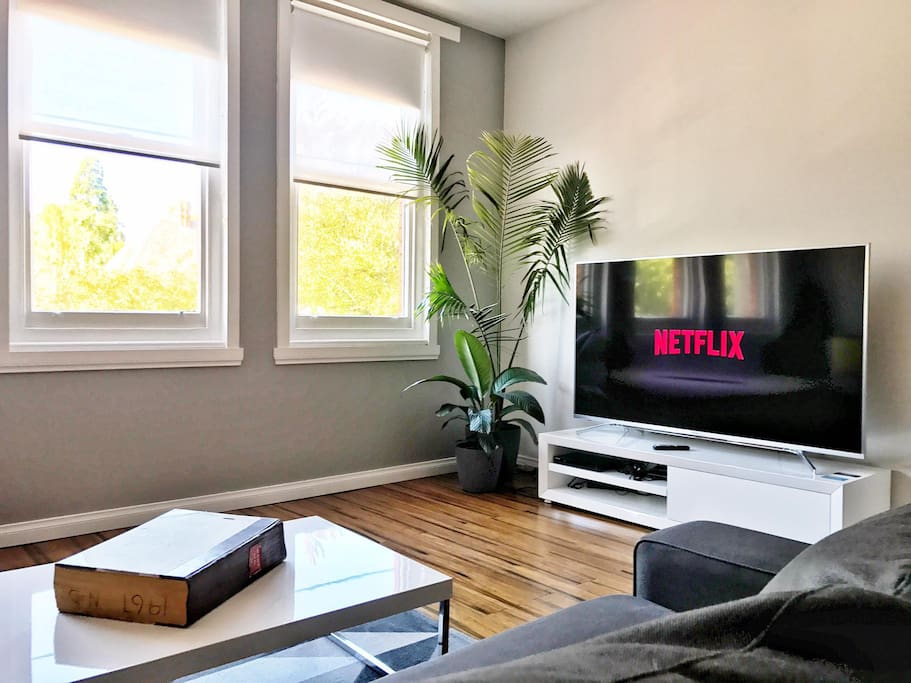 "70"" of Ultra High Definition connected with Netflix to our superfast Free Wi-fi."
