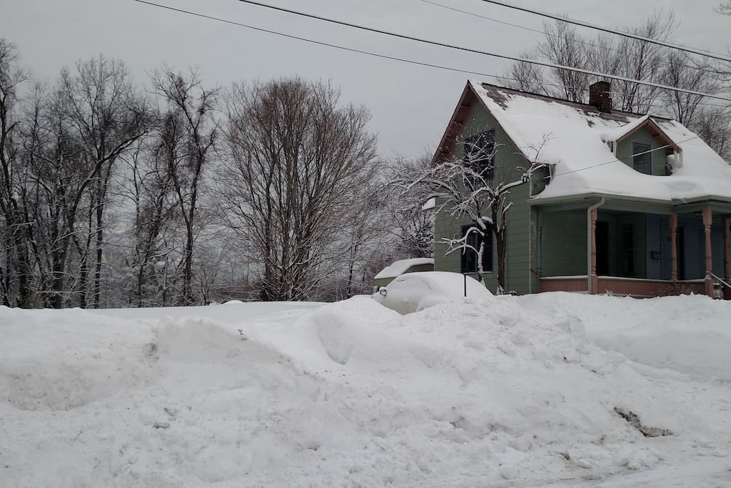 My house from the outside during the epic winter of 2014-2015