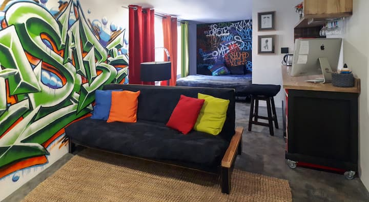Funky city apartment with a vibe