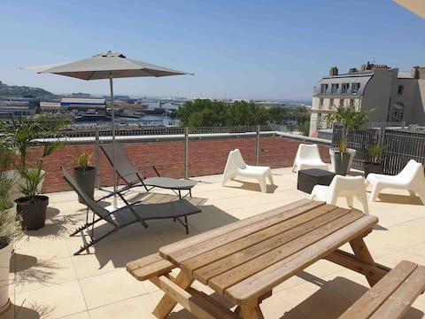 Appartement avec terrasse aux portes de Nausicàa