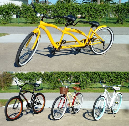 Bike to the beach or community pool on our complimentary beach cruisers!