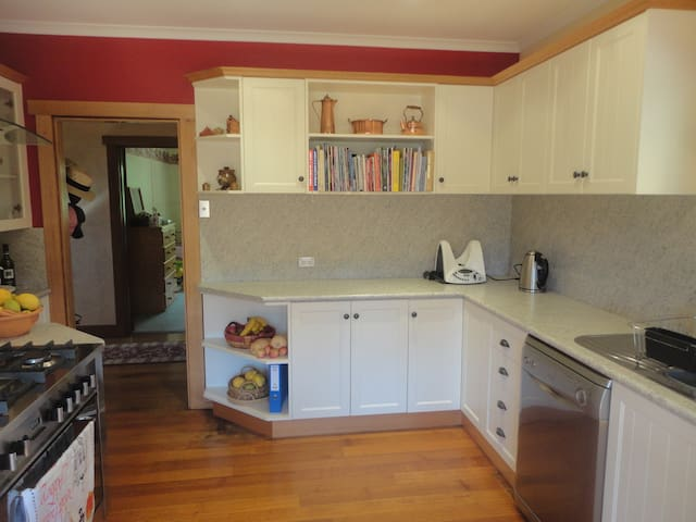 Kitchen area for use by guests