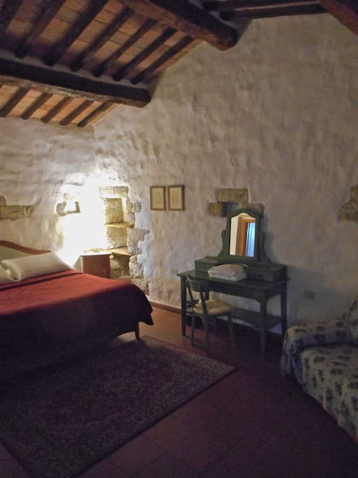 Master bedroom in the 'Tower' this is really very much loved by our guests, who keep coming back!