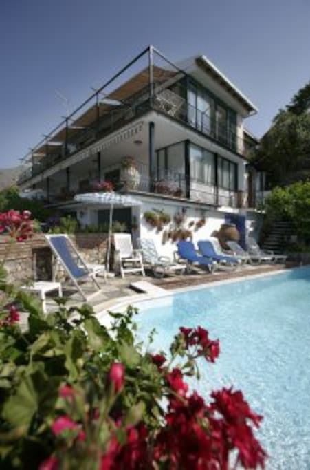 The villa where is located the apartment
