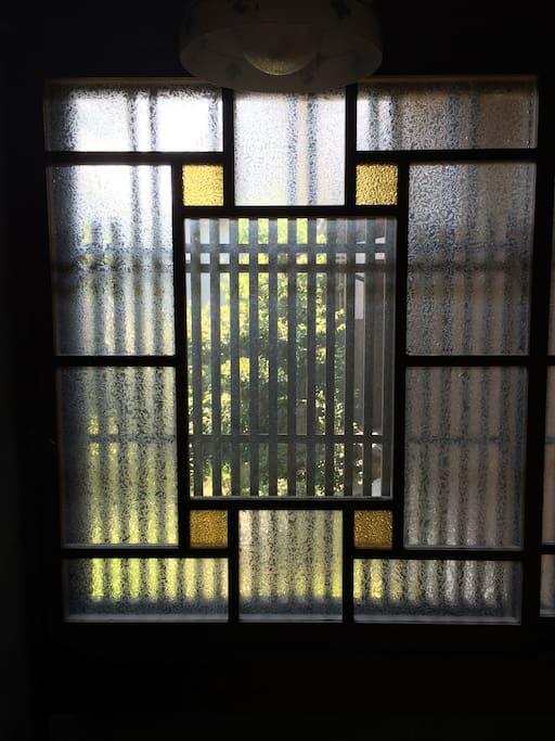 old style stained glass window