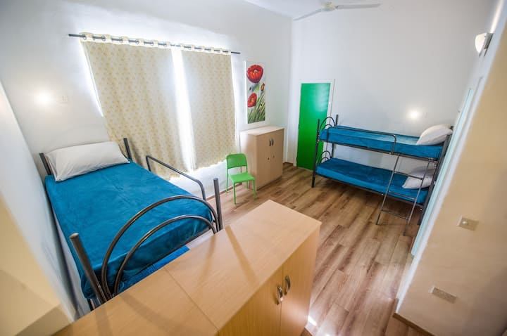 Mixed Dorm bed ( green Room )