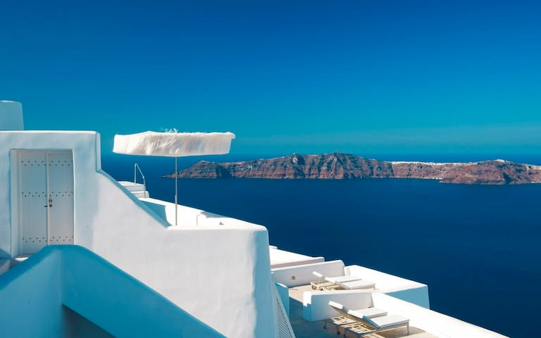 WH Honeymoon ste with jacuzzi Imer - Imerovigli - Bed & Breakfast