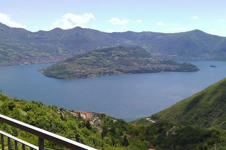 Romantico Appartamento  lago d'Iseo - Parzanica - Daire