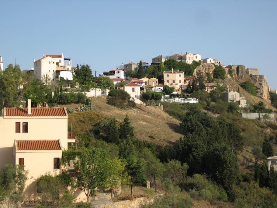 View to old village.