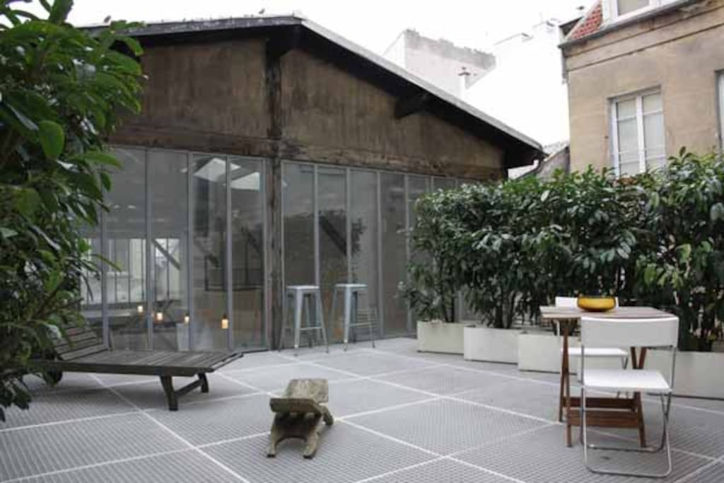 Bastille loft avec terrasse appartements louer paris for Location appartement avec terrasse paris