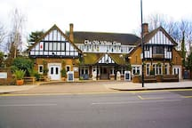 Our local pub, 5 minutes walk from Blenheim Lodge